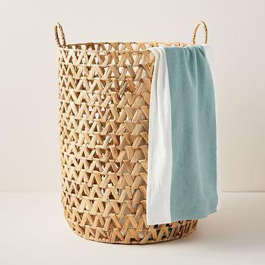 Modern Laundry Hampers Storage West Elm Woven Laundry Basket