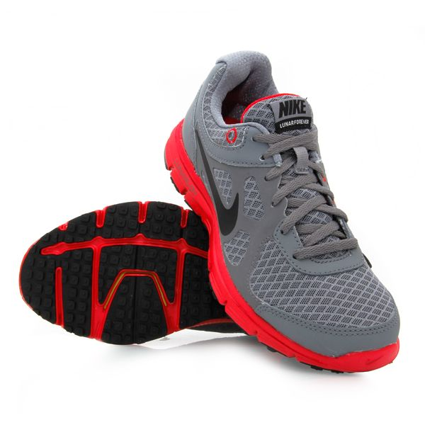 best service 8a3dd 03196 Boys sneakers Nike   12% Off Nike Boys Lunar Forever (002) - Boys Running  Shoes - Grey Red .