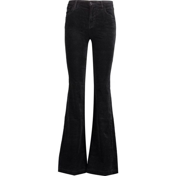 J Brand Maria mid-rise cotton-blend velvet flared pants (8.300 RUB)