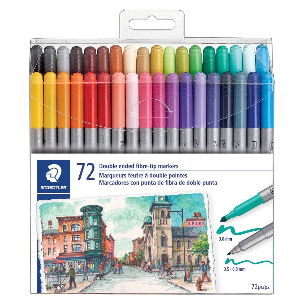 72ct Twin Tip Marker Staedtler Staedtler Art Pens And Markers