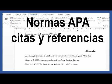 Word Citas Y Referencias Bibliográficas Según Normas Apa