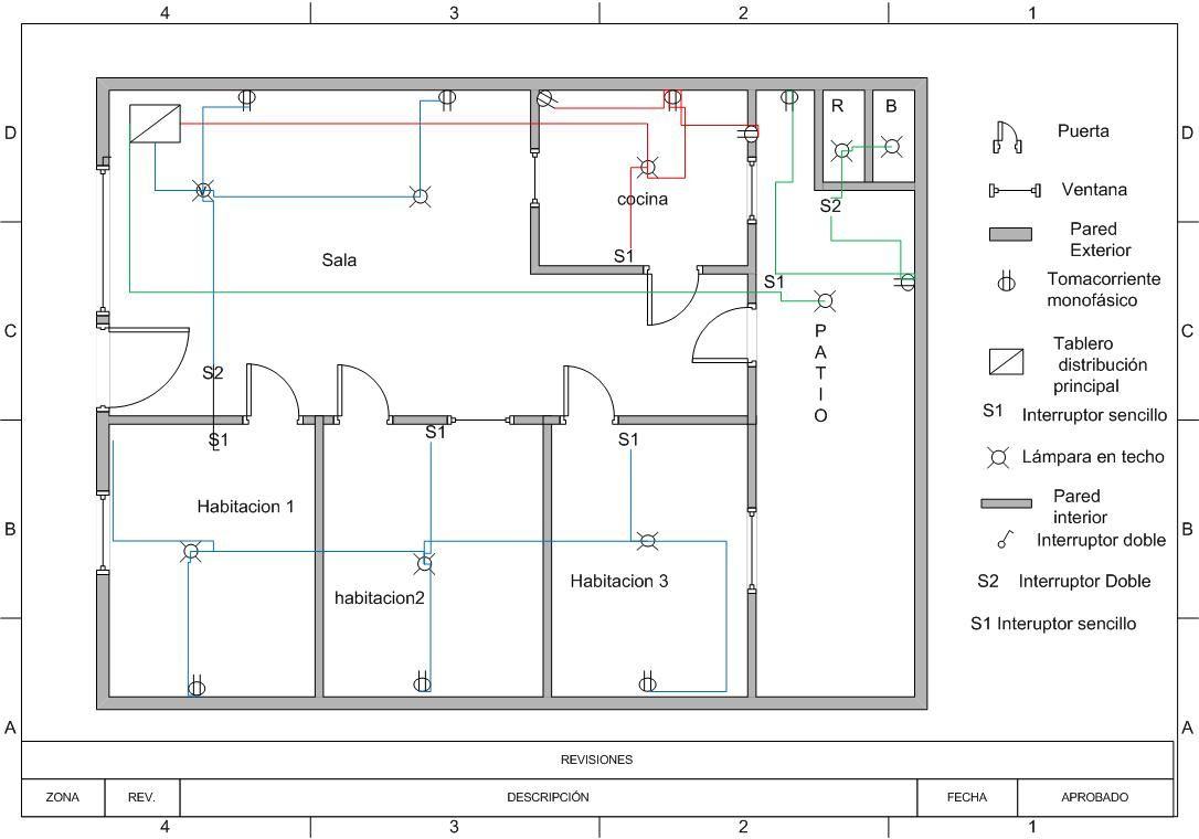 Circuito Unilineal : Plano electrico de búsqueda instalaciones electricas pinterest
