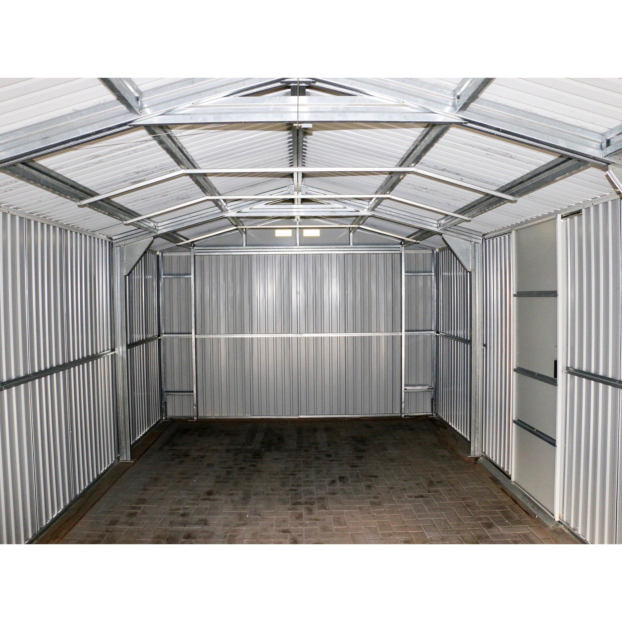 Imperial 12 Ft W X 20 Ft D Metal Garage Shed Shed Building Plans Metal Garages Building A Shed