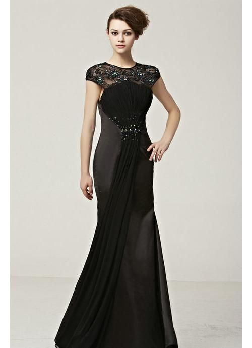 Black long lace dress uk