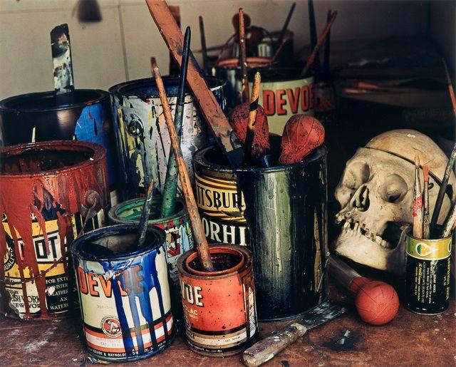 Evelyn Hofer, 'Jackson Pollock's Paints, Long Island,' 1988, Danziger Gallery