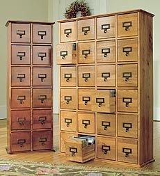 Exceptionnel Retro Style Wooden 24 Drawer Multimedia Library File Cabinet. Thinking  Notion Storage In The Sewing Room.
