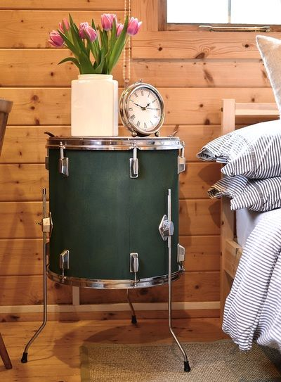 GALLERY   Rock Terrace Gorgeous Upcycled Drum Kit Furniture · Music Themed  ...