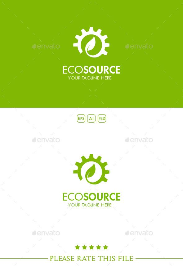Gear Logo Logo templates and Logos - editable leaf template