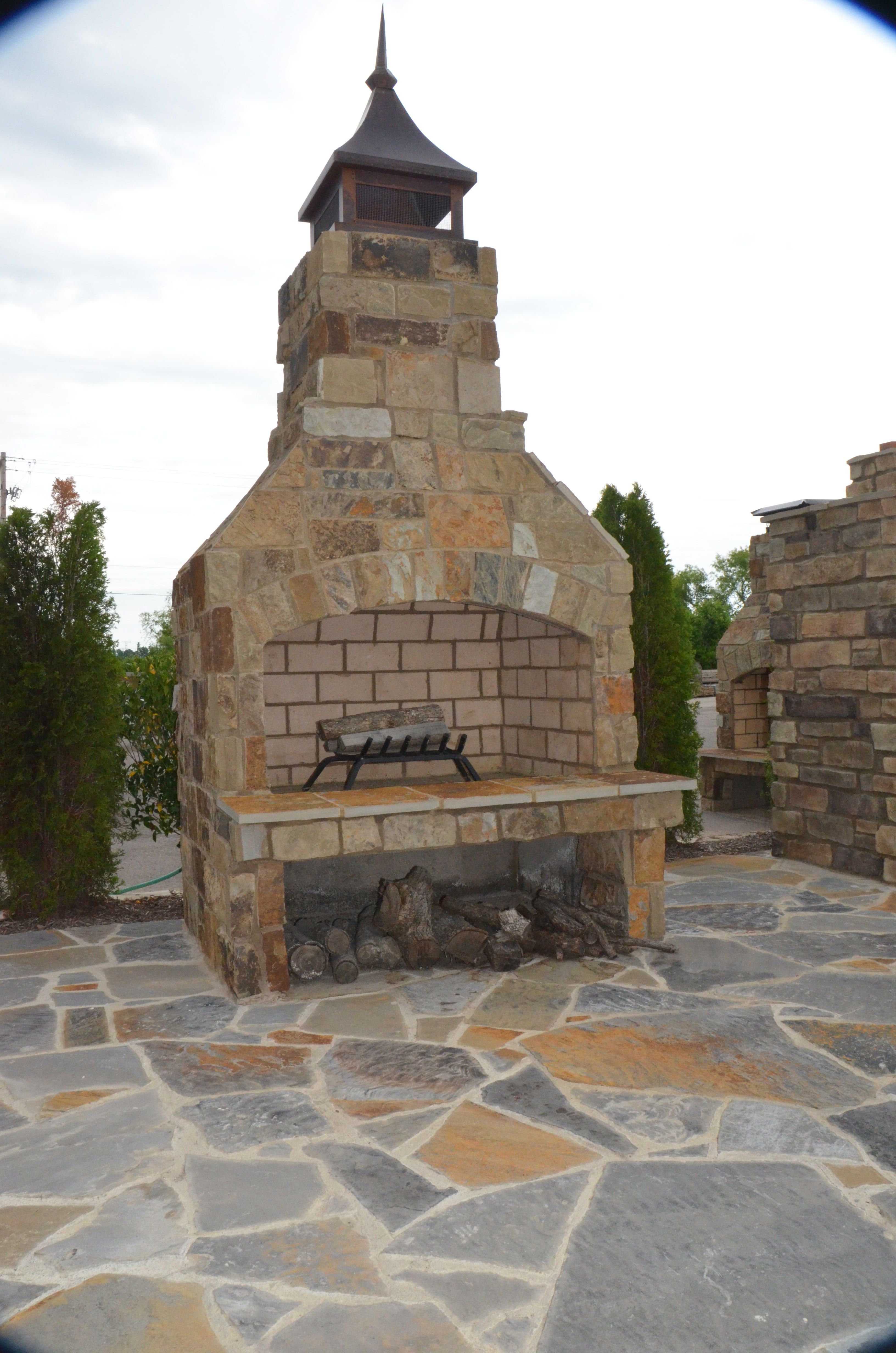 Memphis Stone And Stucco Fireplace Kits Fireplace Outdoor Living