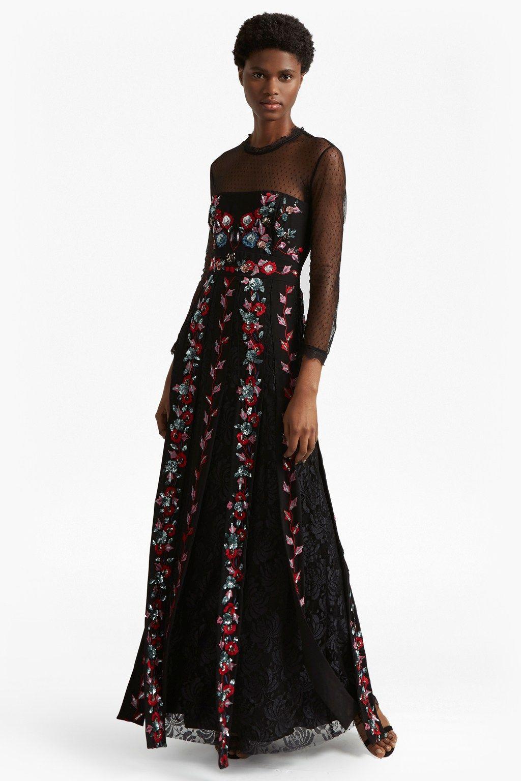 Edith floral long sleeved maxi dress long sleeve maxi maxi