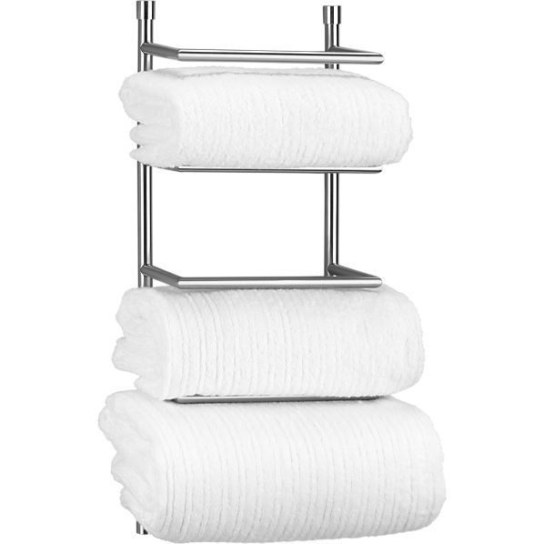 Perfect For A Small Bathroom And The Lines As Opposed To Circles - Rolled towel holder bathroom for small bathroom ideas