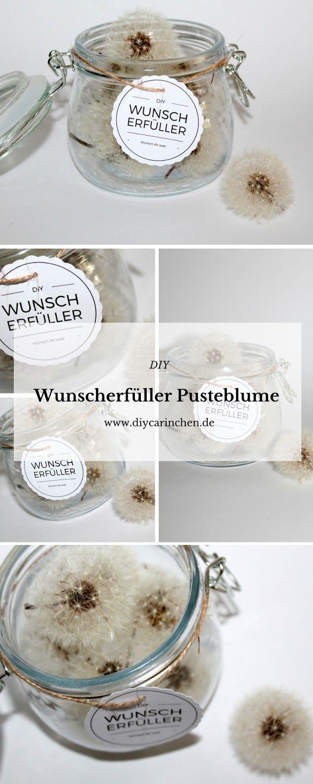diy wunscherf ller pusteblume free printable diy geschenke geschenkideen pinterest. Black Bedroom Furniture Sets. Home Design Ideas