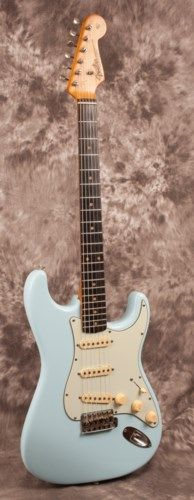1961 Fender® Stratocaster® Sonic Blue, Excellent, Hard, $9,500.00 #fenderstratocaster