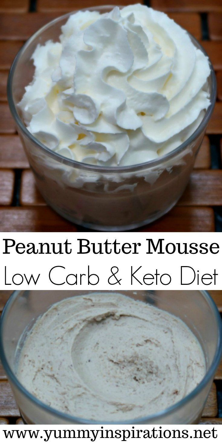 Low Carb Peanut Butter Mousse