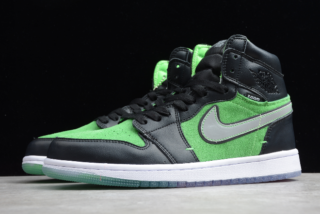 2020 Air Jordan 1 High Zoom Brut Fir Black Tomatillo Rage Green