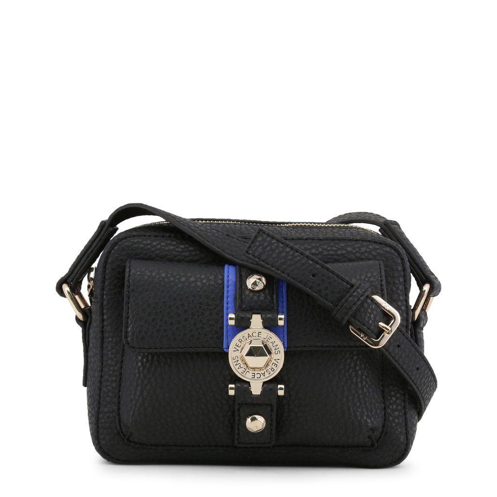 Versace Jeans Women s Crossbody Bag Black Blue Stripe  82454c58d4828