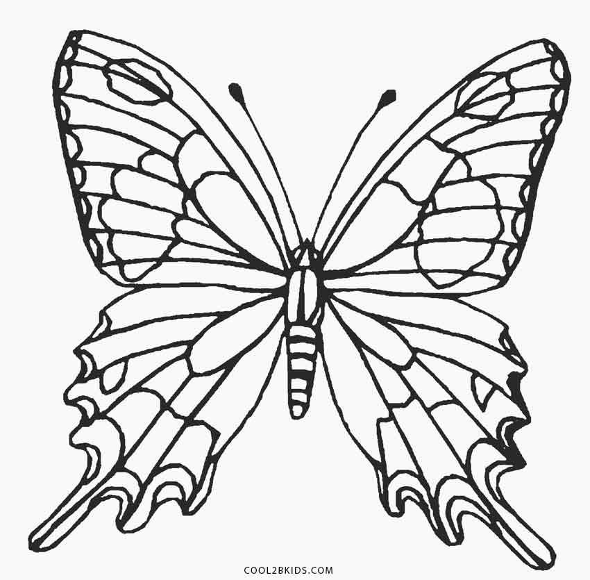Butterfly Coloring Page | Coloring pages | Pinterest | Butterfly ...