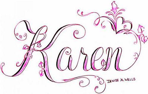 Karen Tattoo Design By Denise A Wells Via Flickr