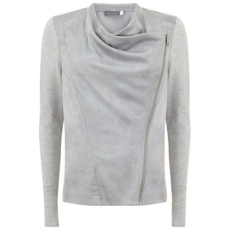 Buy Mint Velvet Biker Cardigan, Silver Grey Online at johnlewis ...