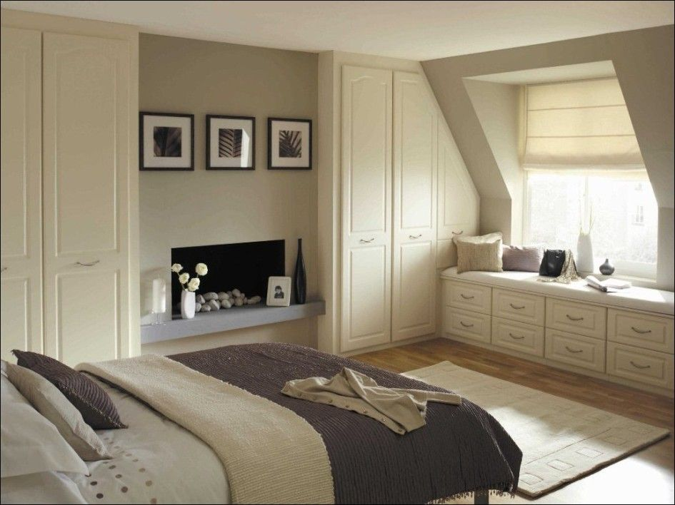 Ideas Fascinating Attic Bedroom With Sloped Ceiling Wardrobe Also