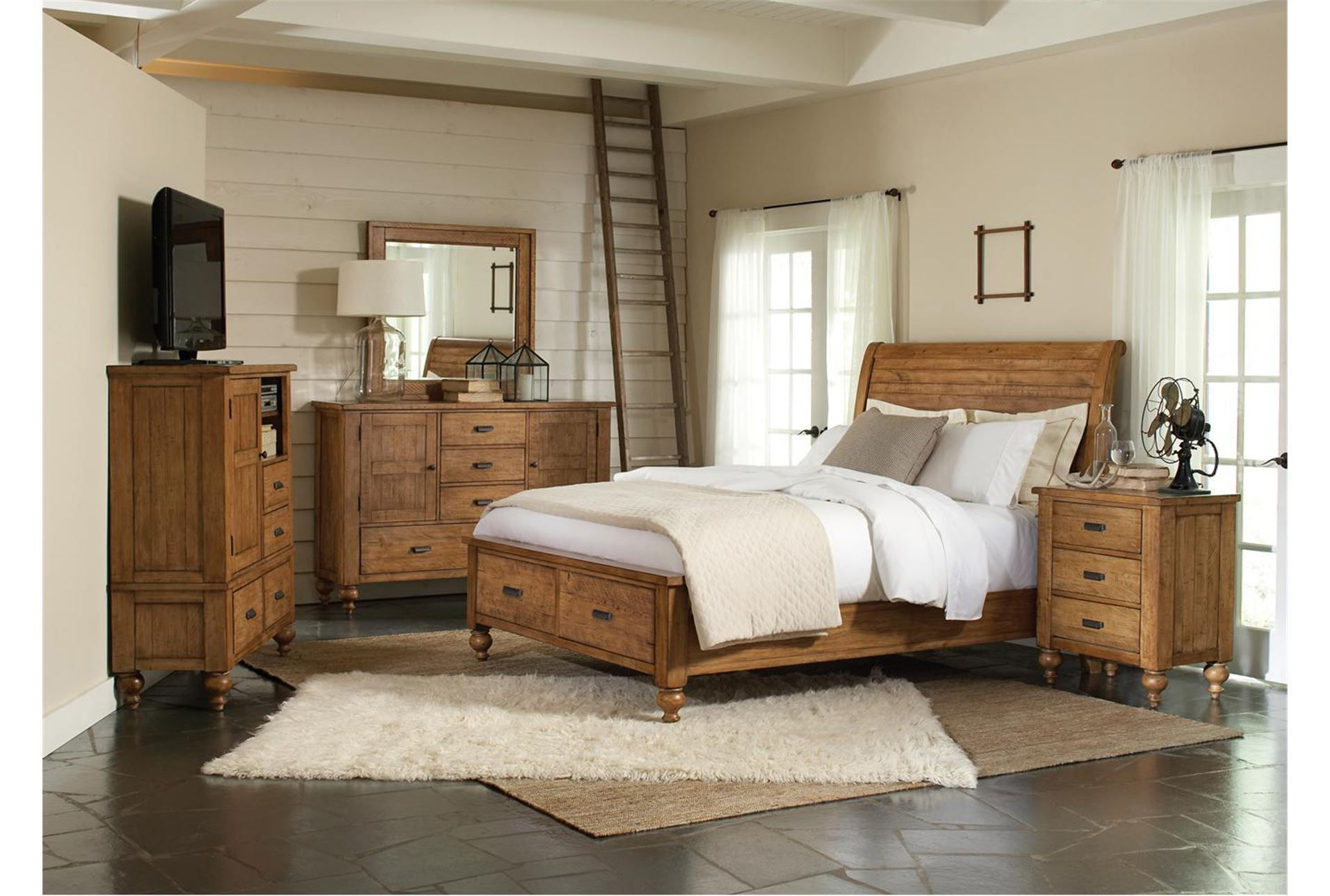Cullen Light Eastern King Storage Bed