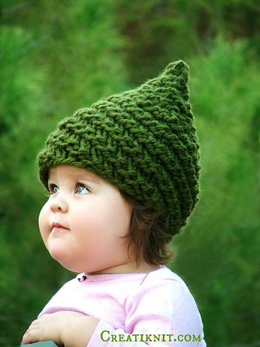 Baby & Child Gnome Hat pattern by CreatiKnit | Purple hats | Pinterest