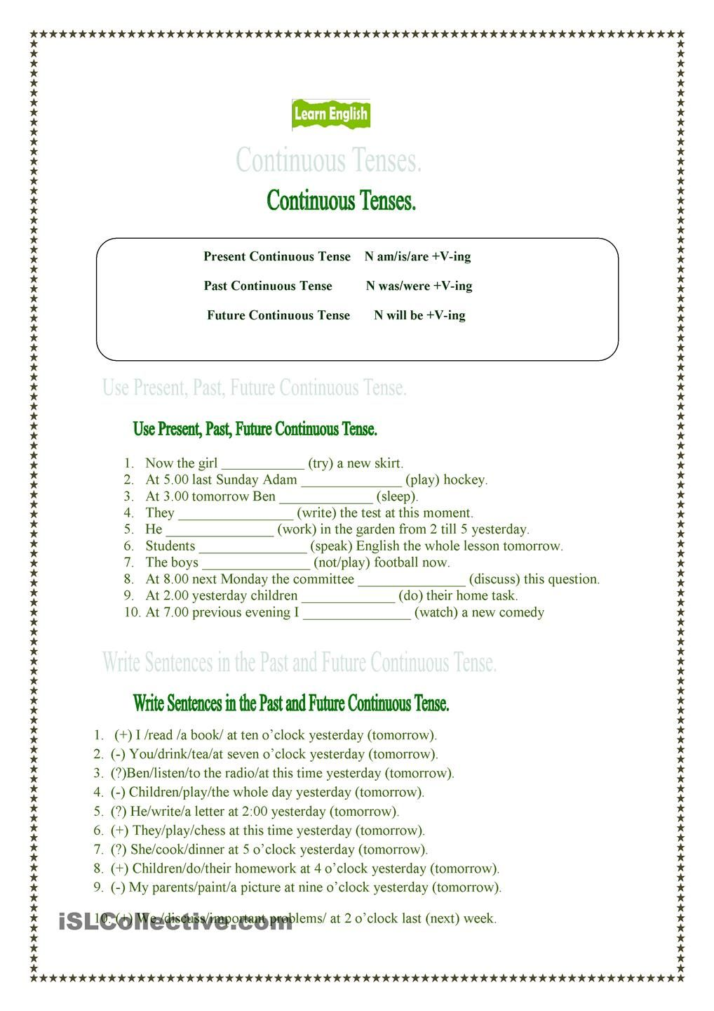 Present Past And Future Continuous Tenses Kindergarten Phonics Worksheets Simple Past Tense Worksheet Phonics Worksheets [ 1440 x 1018 Pixel ]
