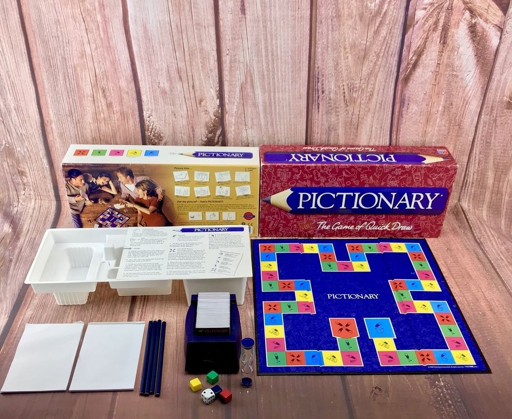 Pictionary Game Of Quick Draw Vintage Mb Version 1996
