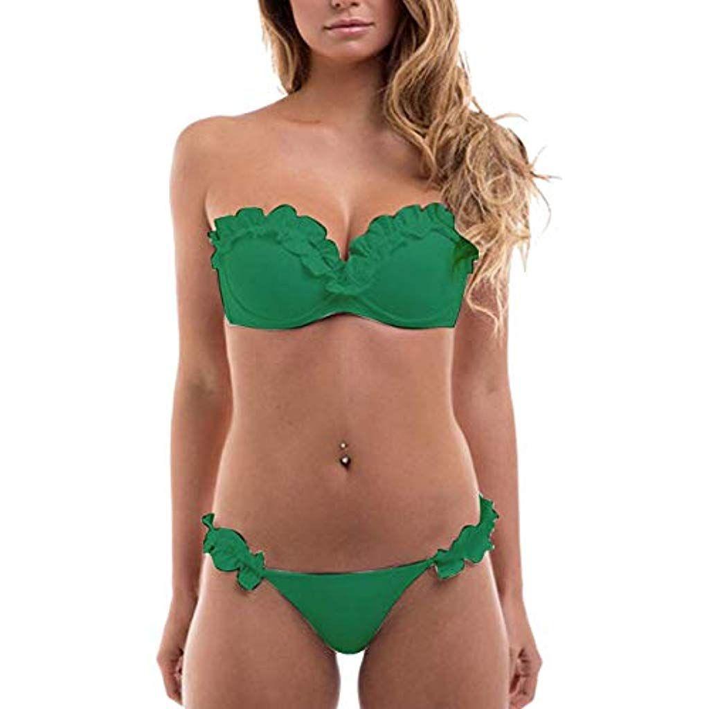 Topgrowth Costume Premaman Intero Bikini Donna Incinte Monokini Tankini Swimwear One Piece Ruffled Halter Beachwear Incinta Costume da Bagno Gravidanza