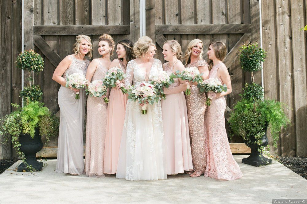Derek And Ashley S Wedding In Indianapolis Indiana Bridesmaid Dresses Bridesmaid Pink Bridesmaid Dress
