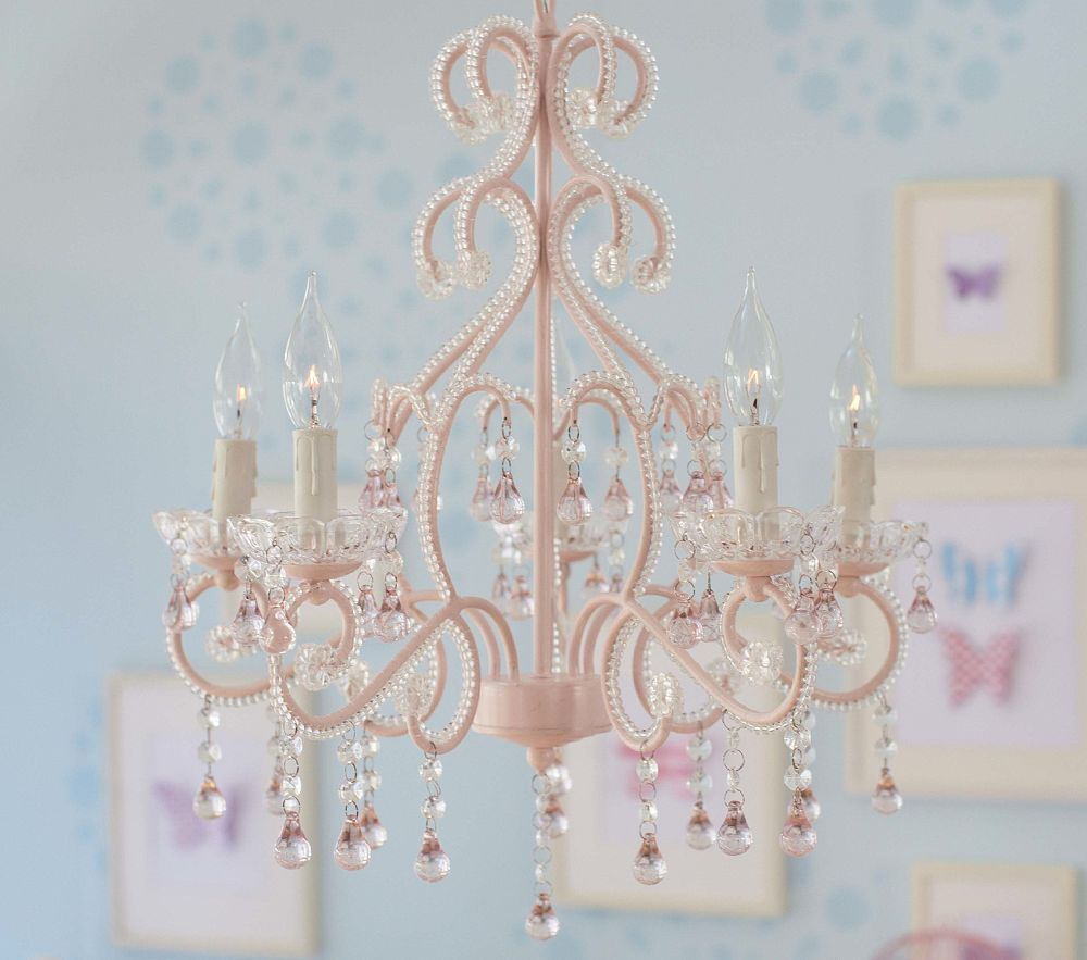 Pink Lydia Chandelier- Perfect for a little girl\'s bedroom or ...