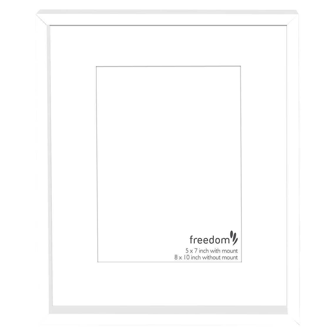 Knox 5x7 Inch Matted Frame White Wood Glass Frame White Wood