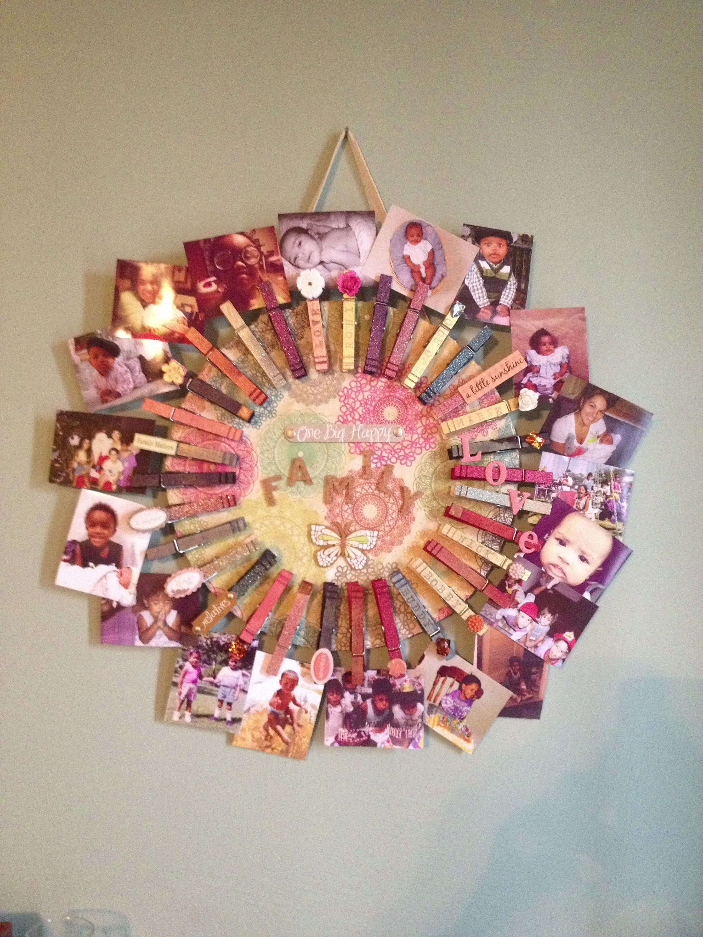 Clothespin Picture Frame So Easy And Fun My Diy