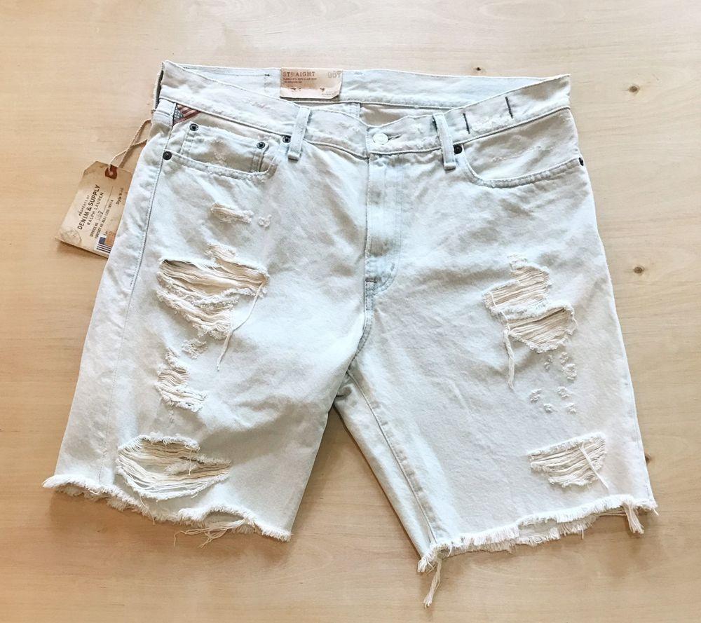 c3877fcb16 Polo Ralph Lauren Denim Supply Men 039 s Jean Shorts 34   eBay ...