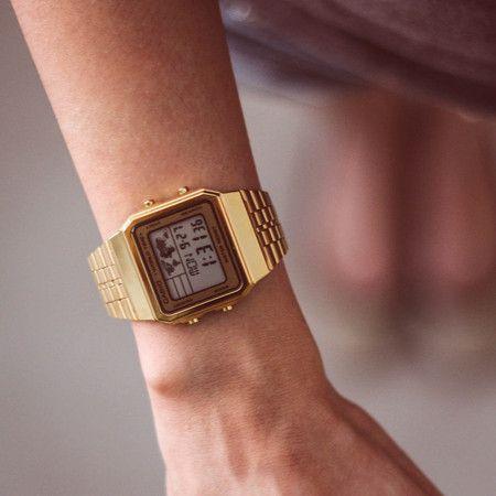 0d15f5de5ae Relógio Casio Mapa Mundi Dourado Vintage A500WGA-9DF - LAÇOS de FILÓ ...
