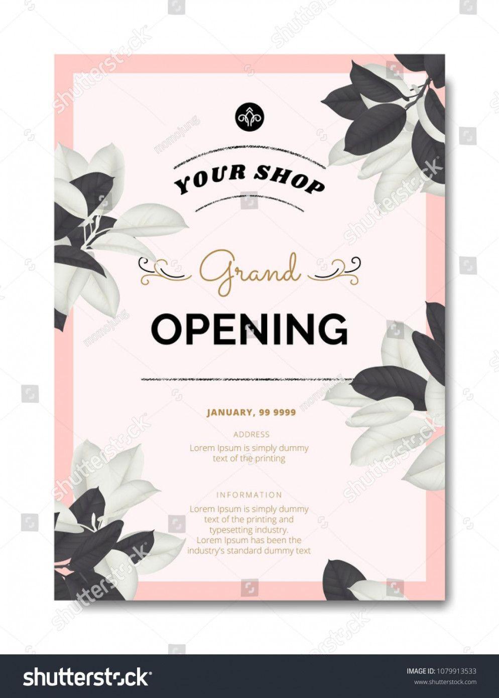 Card Inauguration Invitation Sample Vector Inauguration Invitation Card Samp In 2020 Shop Opening Invitation Card Invitation Card Sample Grand Opening Invitations