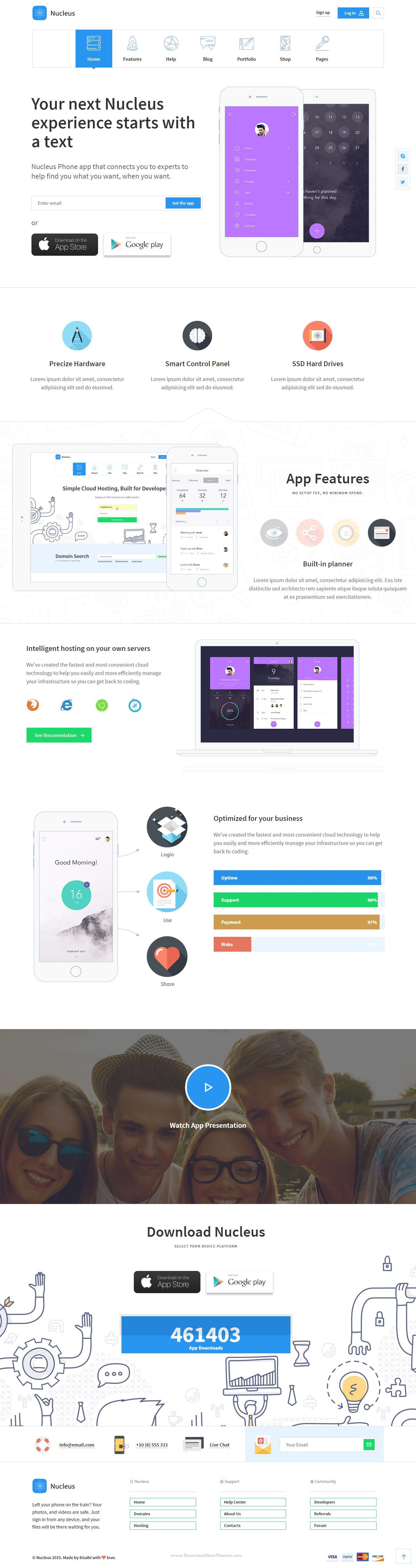 Nucleus Multipurpose Technology HTML Template Seo - Seo landing page template