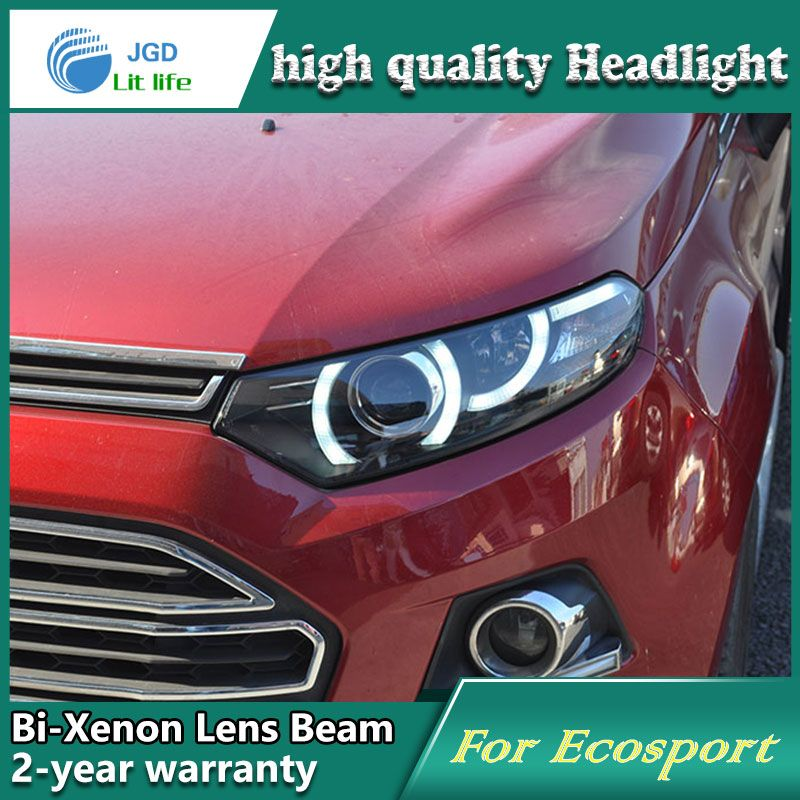 Car Styling Head Lamp Case For Ford Ecosport Headlights Led