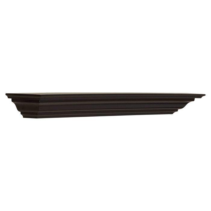 3712b060b6a7e Charlton Home Bende Crown Moulding Wall Shelf   Reviews