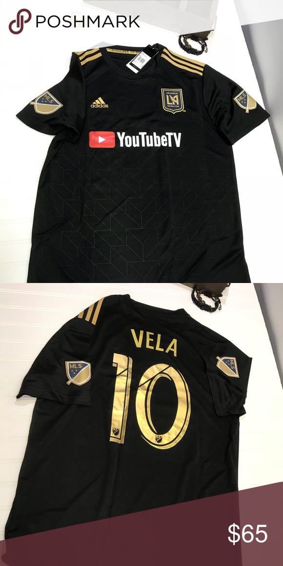 e42232ddd LAFC Authentic Replica Jersey LAFC Carlos Vela authentic replica jersey  size XL fits like a large NWT adidas Shirts Tees - Short Sleeve