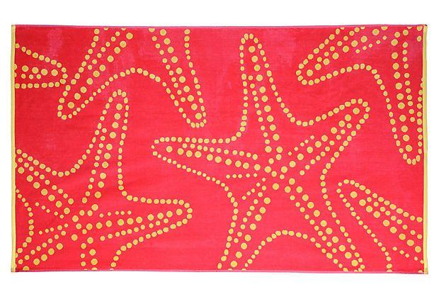 Large Starfish Bright Pink Beach Towel One Kings Lane 29 Pink