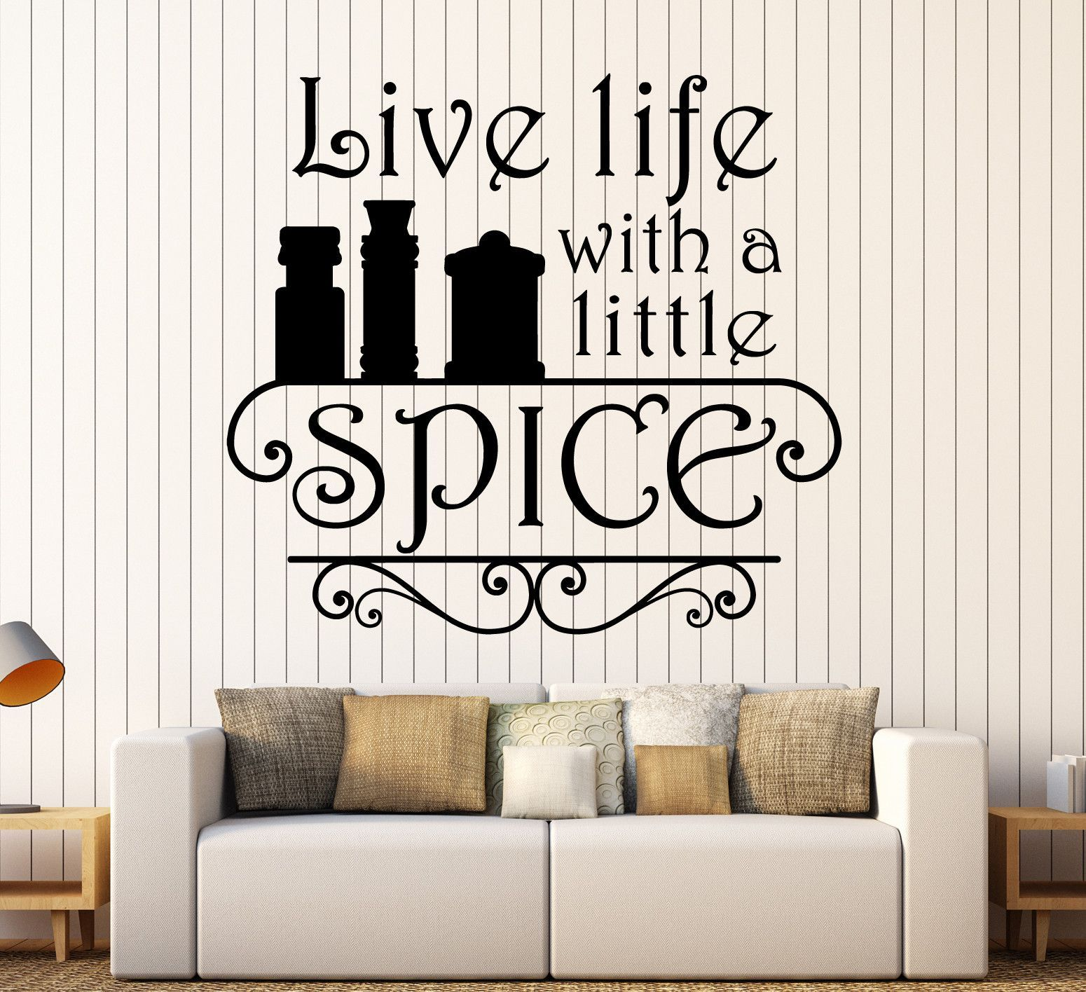 vinyl wall decal kitchen quote spice chef restaurant cook stickers unique gift ig4534 on kitchen decor quotes wall decals id=56777