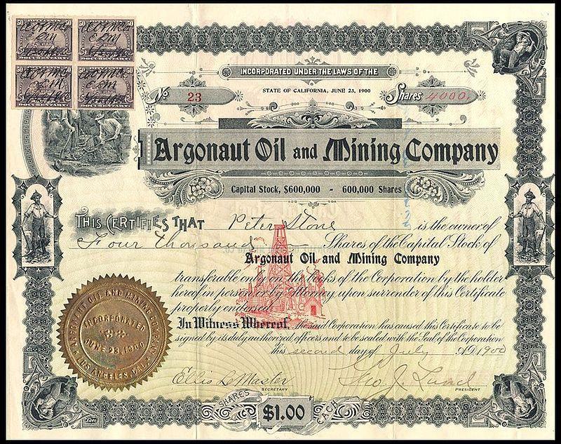 oil mining 1900 stamps rev certificate wikipedia argonaut history certificates encyclopedia tiedosto ephemera wikimedia