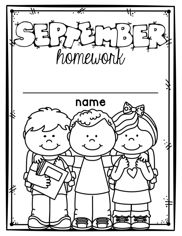 Homework cover page