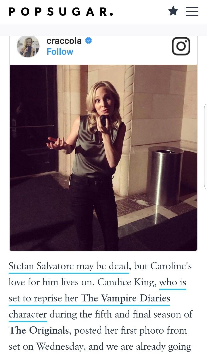 Candice King on the sets of The Originals season 5 | The Vampire
