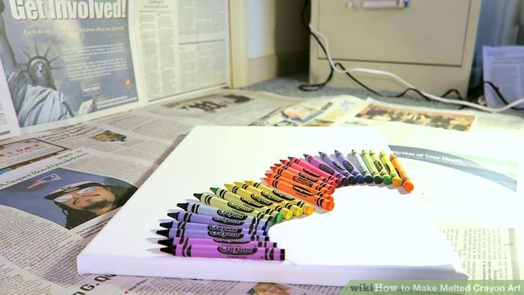 How To Make Melted Crayon Art 12 Steps With Pictures