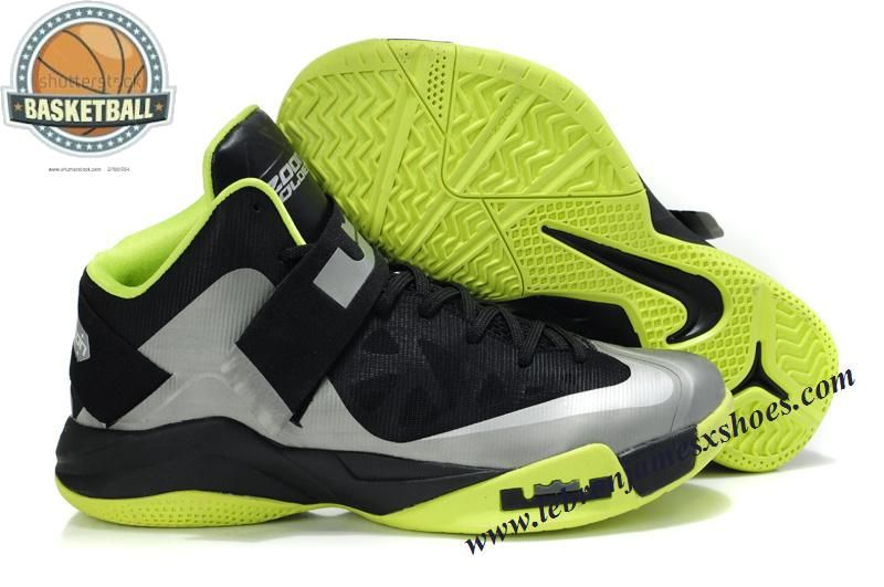 Black · Nike Zoom Soldier 6 Black Silver Green · Cheap Nike Basketball  ShoesBuy ...