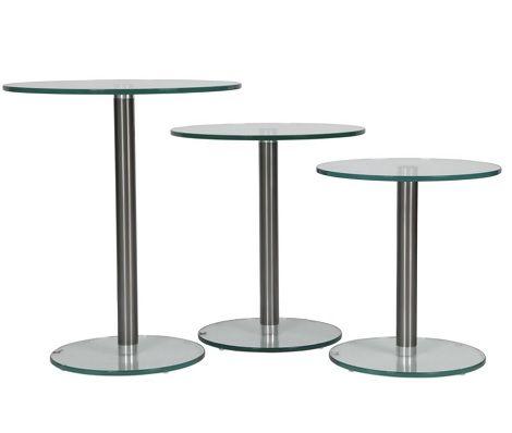 Tafel Hoogte 60 Cm.Glas Tafel Rond 50 Cm Doorsnede 45 50 60 Cm Hoog Helderr Glas