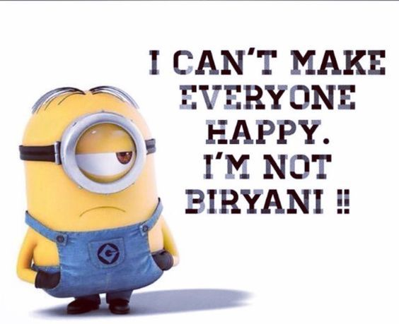 Happiness Is Having A Delicious Plate Of Biryani Do We