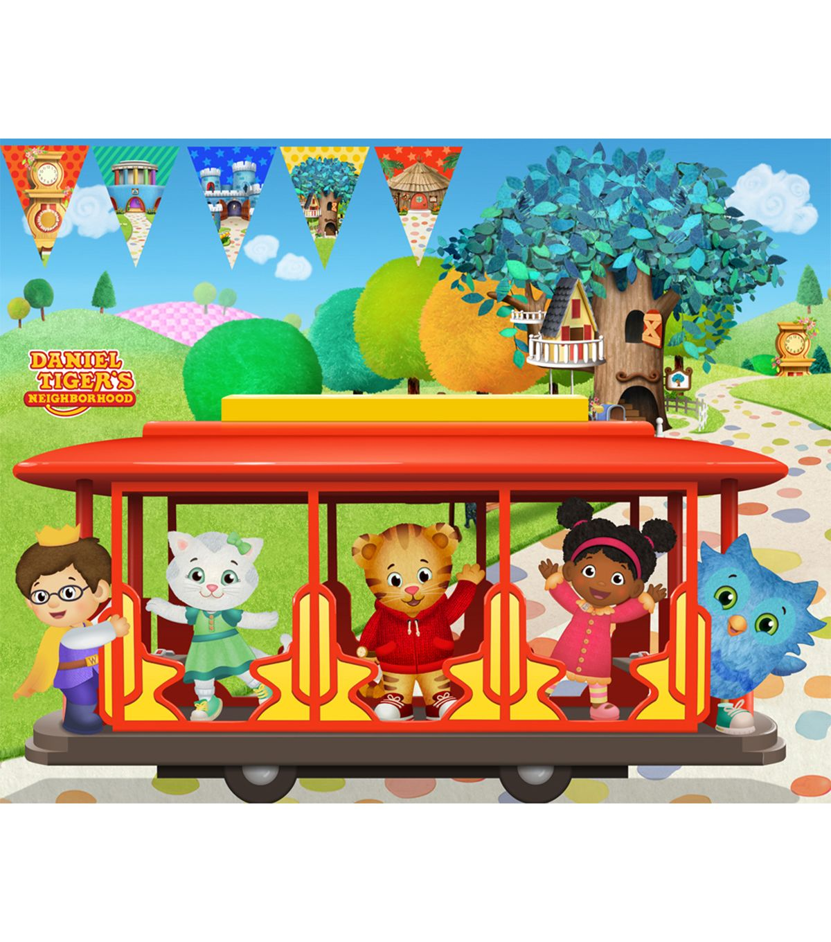 Disney Junior Daniel Tiger Felt Fabric Panel 36 Trolley Daniel